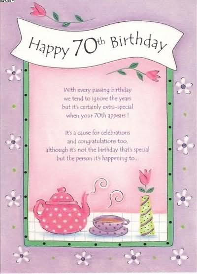 70th Birthday Wishes To Sister