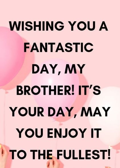 Best Wish For Brother
