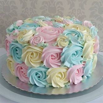 Birthday Cake with Hot Pink Butter