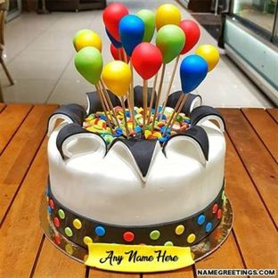 Birthday Cake And Flowers Free Download